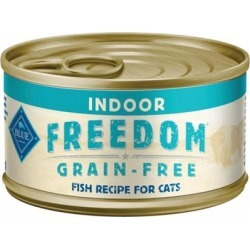 Blue Buffalo Freedom Grain Free Fish Recipe Indoor Canned Cat Food 5.5-oz, case of 24