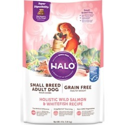 Halo Small Breed Holistic Grain Free Healthy Weight Wild Salmon and Whitefish Dry Dog Food 4-lb