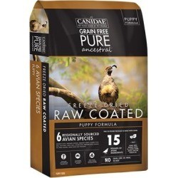 Canidae PURE Ancestral Grain Free Avian Puppy Recipe with Quail, Chicken, & Turkey Raw Coated Dry Dog Food 9-lb