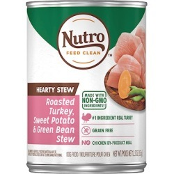 Nutro Adult Hearty Stews Chunky Chicken & Turkey Stew Chunks In Gravy Canned Dog Food 12.5-oz, case of 12