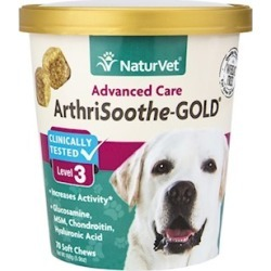 NaturVet ArthriSoothe Gold Soft Chews for Dogs and Cats 180-ct
