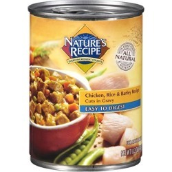 Nature's Recipe Dog Food Easy to Digest Chicken, Rice & Barley Recipe Cuts in Gravy 13.2 oz. - case of 12