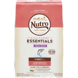Nutro Wholesome Essentials Adult Small Bites Salmon, Whole Brown Rice and Sweet Potato Dry Dog Food 30-lb