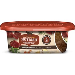 Rachael Ray Nutrish Natural Grain Free Hearty Beef Stew Recipe Wet Dog Food 8-oz, case of 8