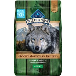 Blue Buffalo Wilderness Rocky Mountain Grain Free Recipes Adult Rabbit Dry Dog Food 22-lb