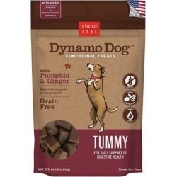 Cloud Star Dynamo Dog Functional Treats - Tummy Pumpkin & Ginger (5 oz)