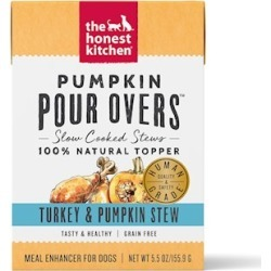 The Honest Kitchen Pour Overs Grain Free Turkey & Pumpkin Stew Recipe Food Topper for Dogs 5.5-oz, case of 12