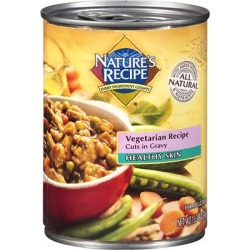 Nature's Recipe Healthy Skin Vegetarian Recipe Cuts in Gravy Dog Food 13.2 oz. - case of 12