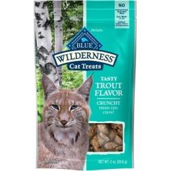 Blue Buffalo Wilderness Grain Free Trout Crunchy Cat Treats 2-oz