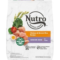 Nutro Wholesome Essentials Senior Chicken, Whole Brown Rice and Sweet Potato Formula Dry Dog Food 30-lb