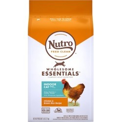 Nutro Wholesome Essentials Indoor Adult Farm Raised Chicken and Brown Rice Dry Cat Food 14-lb