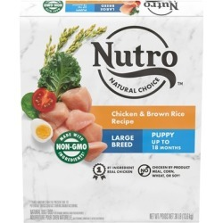 Nutro Wholesome Essentials Large Breed Puppy Farm-Raised Chicken, Brown Rice & Sweet Potato Dry Dog Food 30-lb