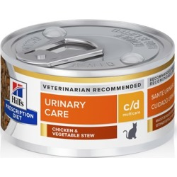 Hill's Prescription Diet c/d Multicare Urinary Care with Ocean Fish Canned Cat Food 2.9 oz, 24-pack, Chicken & Vegetable Stew Flavor found on Bargain Bro Philippines from PetCareRx for $37.99