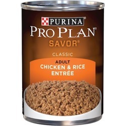 Purina Pro Plan Savor Chicken and Rice Entree Canned Adult Dog Food 13-oz, case of 12