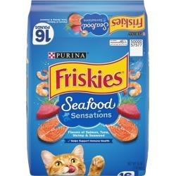 Friskies Seafood Sensations Dry Cat Food 22-lb