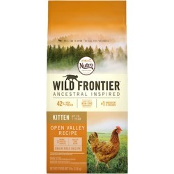 Nutro Wild Frontier Grain Free Kitten Open Valley Recipe Chicken Dry Cat Food 5-lb