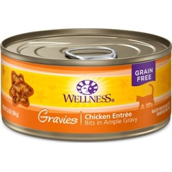 Wellness Natural Grain Free Gravies Chicken Dinner Canned Cat Food 3-oz, case of 12