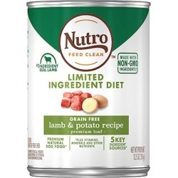 Nutro Limited Ingredient Diet Grain Free Lamb & Potato Pate Canned Dog Food 12.5-oz, case of 12