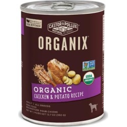 Castor and Pollux Organix Chicken And Potato Formula Canned Dog Food 12.7-oz, case of 12