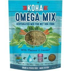 KOHA Omega Mix Healthy Skin & Coat Recipe Dehydrated Mix for Wet Dog Food 2-lb