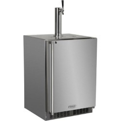 Marvel 24-Inch Right Hinge Outdoor Single Tap Beer Dispenser / Kegerator - Stainless Steel - MO24BSS2RS