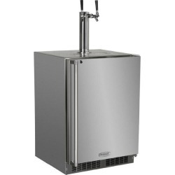 Marvel 24-Inch Right Hinge Outdoor Dual Tap Beer Dispenser / Kegerator - Stainless Steel - MO24BTS2RS