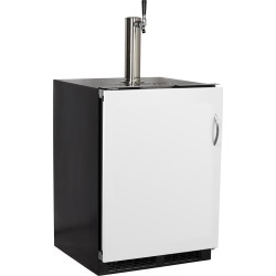 Marvel 24-Inch Panel Ready, Single Tap Built-In Beer Dispenser With Integrated Left Hinge - ML24BSP3LP