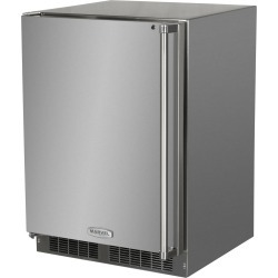 Marvel 24-Inch Left Hinge Outdoor Refrigerator Freezer With Ice Maker- Stainless Steel - MO24RFS2LS