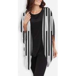 Cocoon Wrap - Black Vertical Lines by VIDA Original Artist found on Bargain Bro India from SHOPVIDA for $110.00
