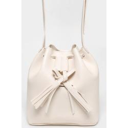 Tassel Drawstring Cream Cross Body Bag