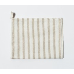 Linen Chef's Towel - Classic Stripe-Natural - Snowe Home