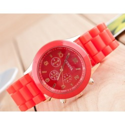 Costbuys  Luxury White Water Resistant Classic Easy Read Sports Women Wrist Watch Top Quality Lady Rhinestone watch - red found on Bargain Bro India from cost buys for $68.99
