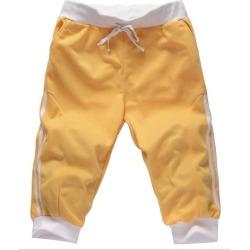 Costbuys  Outdoor Sport Fitness Running Basketball Shorts mens capri Shorts men's trousers elastic waist hip hop 3/4pants - Yell