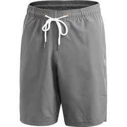 Costbuys  Men Fitness Outdoor Shorts Basketball Gym Running Mesh Sports Short Quick dry Exercise Sportwear - Gray / XL