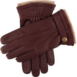Dents Men's Handsewn Cashmere Lined Deerskin Leather Gloves With Cashmere Cuffs In Claret Size 10.5 found on Bargain Bro UK from Dents
