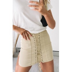 Lioness Dangerous Women Mini Skirt Cream found on MODAPINS from Beginning Boutique US for USD $39.95