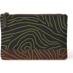 Carry-All Pouch - The Ocean in Brown/Green by VIDA Original Artist found on Bargain Bro Philippines from SHOPVIDA for $30.00