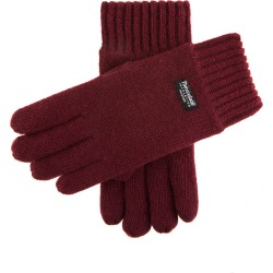 Dents Men's Thinsulate Lined Knitted Gloves In Burgundy Size M found on Bargain Bro UK from Dents