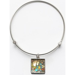 Charm Bracelet - Middle Ages Stainglass in Brown/Yellow by VIDA Original Artist found on Bargain Bro India from SHOPVIDA for $45.00