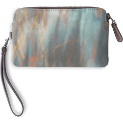 Leather Statement Clutch - Breeze in Blue/Brown/Green by VIDA Original Artist found on MODAPINS from SHOPVIDA for USD $75.00