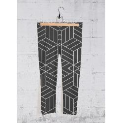 Yoga Capri Pants - Black White Geometrical by Haris Kavalla Original Artist found on Bargain Bro India from SHOPVIDA for $70.00