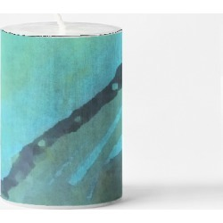 Small Accent Candle - Back To Basics in Blue/Green/Purple by VIDA Original Artist