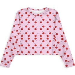 Modern Eco Sweatshirt - Kawaii Cherries Red Patte in Brown/Pink/Red by Violetheavensky Original Artist found on Bargain Bro Philippines from SHOPVIDA for $80.00