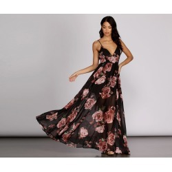 Astrid Chiffon Floral Gown