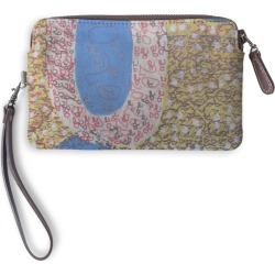Leather Statement Clutch - Uncommon Favor2 in Blue/Brown/Purple by VIDA Original Artist found on MODAPINS from SHOPVIDA for USD $75.00