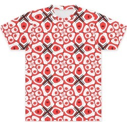 Unisex Tee - Front Print - Red Geometric Pattern in Pink/Red/White by VIDA Original Artist found on Bargain Bro Philippines from SHOPVIDA for $55.00