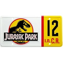 Official Jurassic Park Dennis Nedry Licence Plate 1:1 Scale Replica found on Bargain Bro UK from yellow bulldog