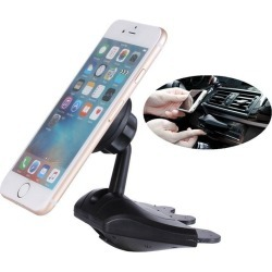 Costbuys  Universal 360 Degree Car Phone Holder Magnetic CD Slot Mount Cell Phone Car Mobile Phone Holder Stand Mobile Phone Acc