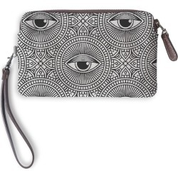 Leather Statement Clutch - Vintage Decorative Eyes by VIDA Original Artist found on Bargain Bro India from SHOPVIDA for $75.00