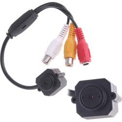 "Costbuys  Mini Camera 380 TVL CCTV Camera Video Audio CMOS Monitor Home Security Camera Infrared 5.5mm Lens 1/4"" Color Monitor P"